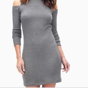 Anthropologie Splendid Cold Shoulder Ribbed Dress